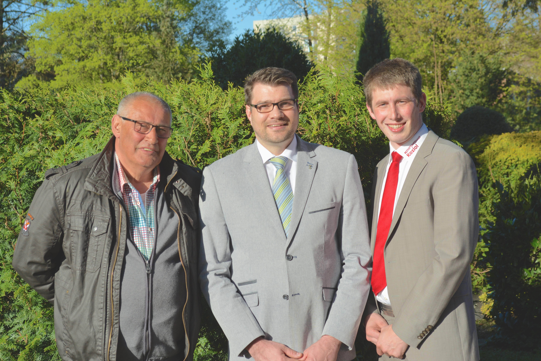 Fernand Parfondry, Daniel Kirchenvater und Jan Suchowsky