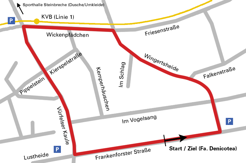 Rund um Refrath Streckenplan 2013