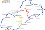 Staubwolke Refrath Radtourenstrecke