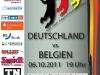 Plakat Länderspiel Deutschlan Belgien