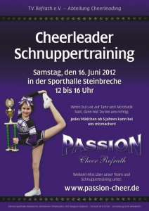 Cheerleader Schnuppertraining 2012