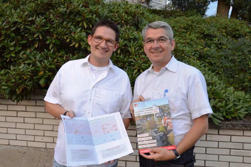 Oliver Knigge und Lutz Urbach präsentieren die Ergebnisse der Stadtteilumfrage