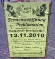 Prinzenproklamation am 13.11.2010