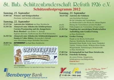 Schützenfest 2012 Programm